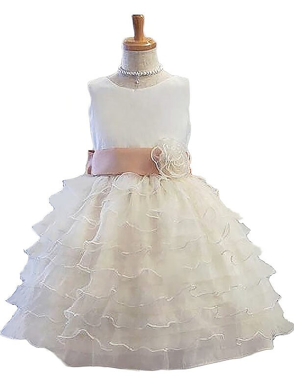 White Tulle Jewel A Lineprincess Shortmini Flower Girl Dresses