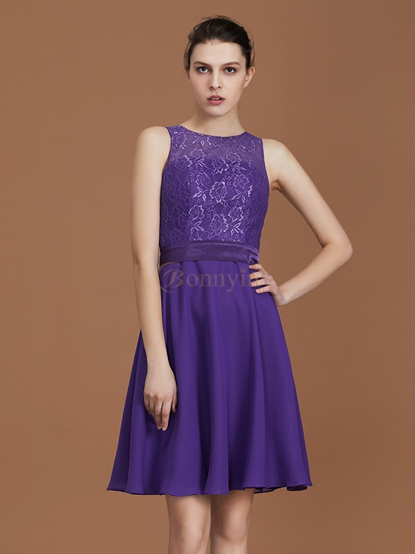 Regency Chiffon Bateau A-Line/Princess Floor-Length Bridesmaid Dresses