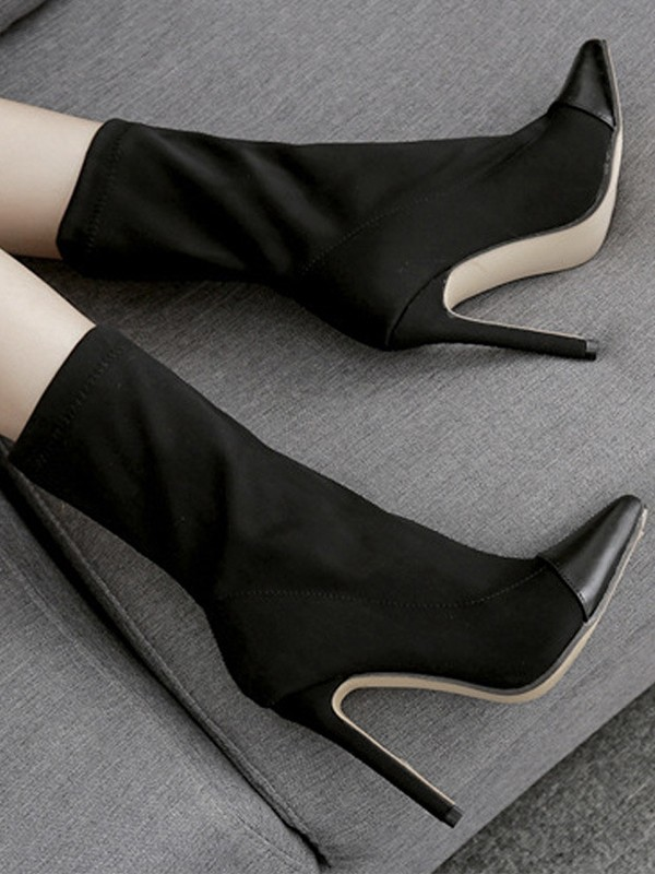 Women's PU Closed Toe Stiletto Heel High Heels