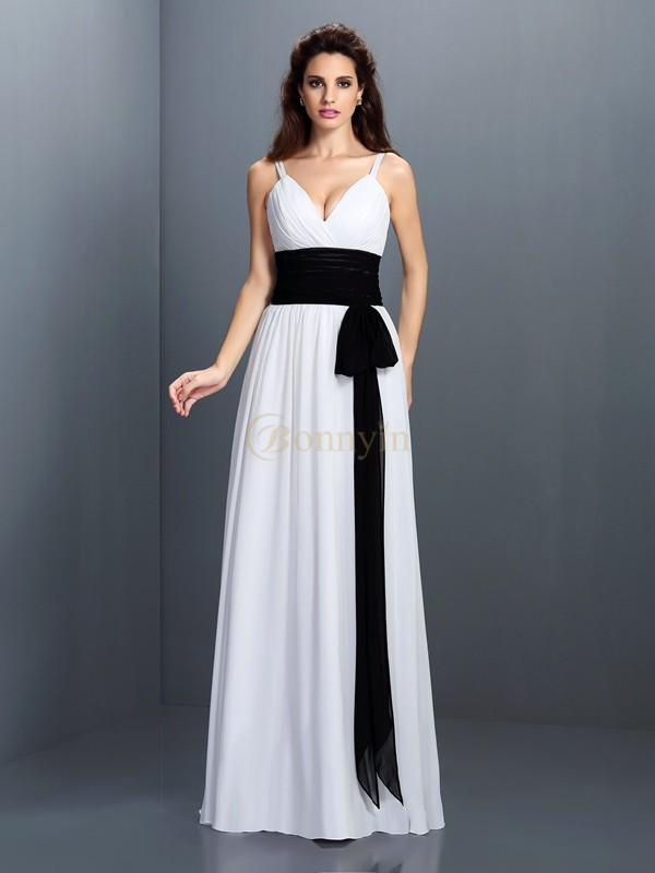 Ivory Chiffon V-neck A-Line/Princess Floor-Length Bridesmaid Dresses